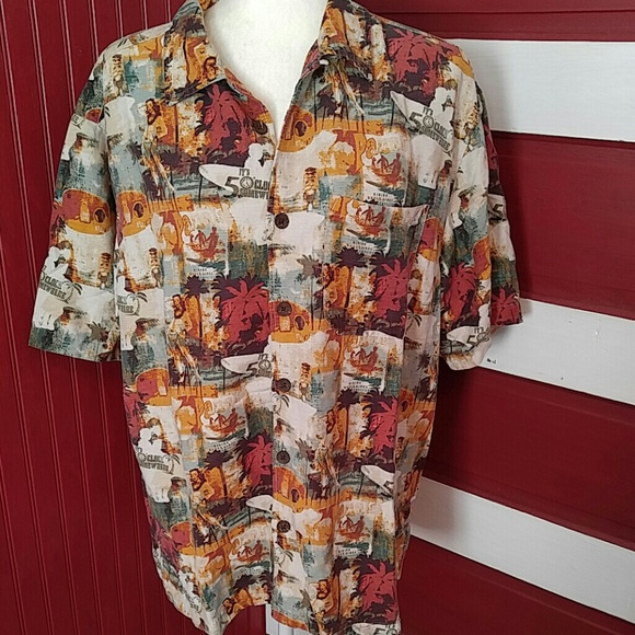 829f6febb Margaritaville Shirts   Silk Shirt Hula Girl L   Poshmark